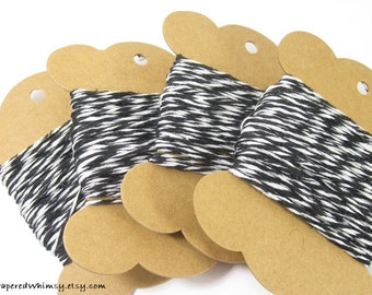 Black Bakers Twine | Gift Tag String | Craft String | Scrapbook String | Baking String | Wrapping Twine | Black Twine | Black String