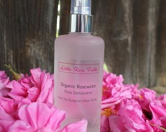 Organic Bulgarian Rosewater - Facial Toner Body Spray Rosa damascena