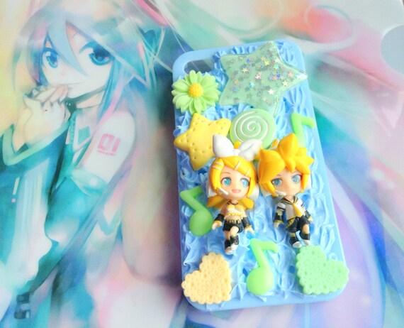 Kagamine Rin and Len Decoden Case, Vocaloid Phone Case, Iphone 4S Case ...