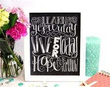 Live Laugh Love, Learn Live Hope, Encouragement Quote, Chalk Art, Chalkboard Print, Chalkboard Art, Chalkboard Sign, Motivational Quote