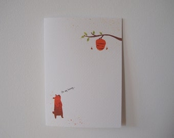 Valentine's day card/ Anniversary Card/  Birthday Card - Oh my honey...I love you more than anything!