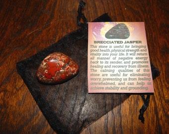 Genuine BRECCIATED JASPER - Genuine Rough or Tumbled Brecciated Jasper - @1 Inch Gemstones - Metaphysical Crystals - Reiki - Chakra Stones