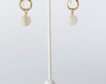 Moonstone and 24K Gold Vermeil Earrings