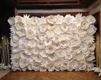 Custom Made Flower Backdrop