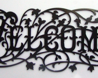 Welcome Metal Art Home Decor Sign