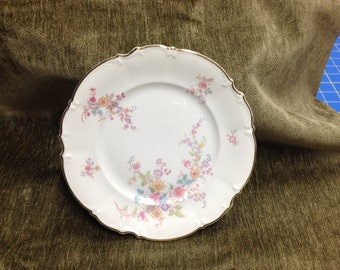 """Hutschenreuther 8"""" plate, Hutschenreuther Gelb Plate made in Bavaria Germany, The Afton pattern"""