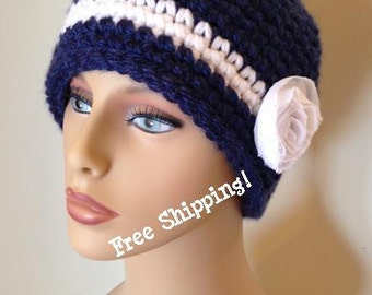 Little Audrey Women's Cloche With Flower - Free Shipping!