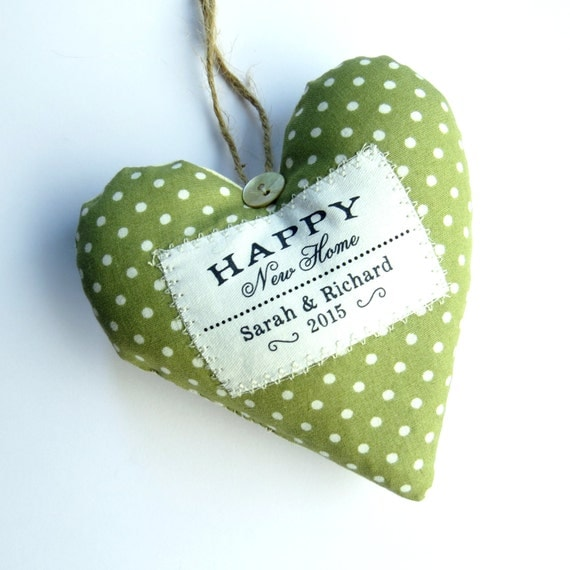 new home gift housewarming gift personalised heart made in