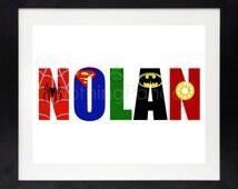 Superhero Name // Superhero Wall Art // Boy Wall Art // Girl Wall Art // Superhero Bedroom // Superhero Logo // ANY Name