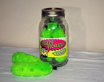 Fuzzy Pickle jar