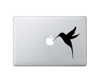 Hummingbird Eating at Apple - Macbook Decal - Home/Laptop/Computer/Phone/Car Bumper Sticker Decal