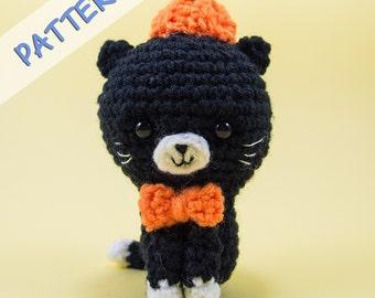 Crochet Amigurumi Pattern (PDF) - Pumpkin the Cat  -- Cat crochet/ Cat amigurumi for Halloween decor