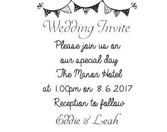Wedding Invite stamp custom Wedding invitation invite stamp wedding stamps