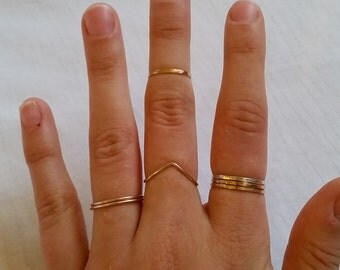 Slightly Adjustable Chevron Ring, Gold Chevron Ring, Sterling Silver Chevron Ring, Chevron Ring Gold, Rose Gold Chevron Ring, Stackable Ring
