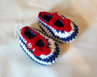 ready to ship baby booties slippers marine