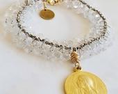 Bracelet - Mary of Magdala Crystal - 18K Gold Vermeil