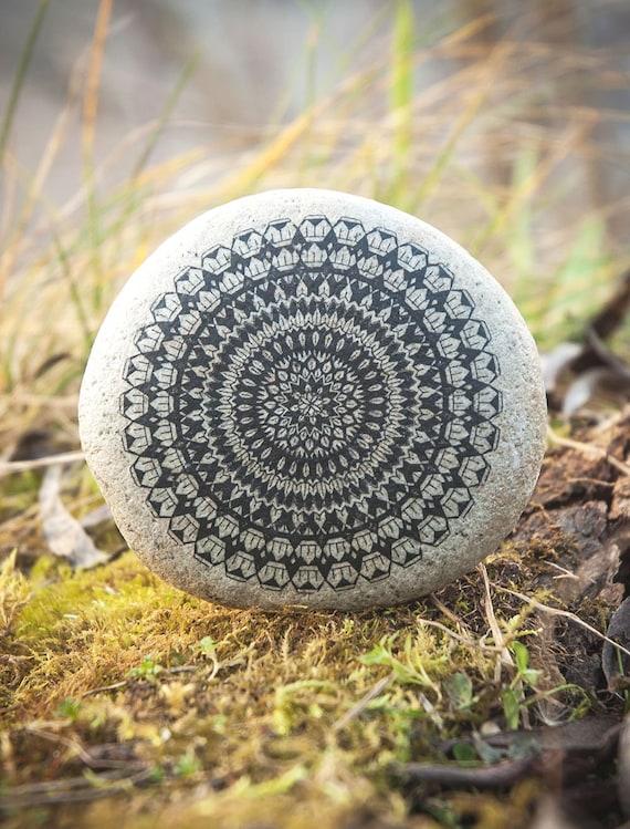 Natural Stone Art : Mandala art tattoo natural stone meditation by