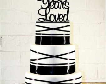 65th Birthday Cake Topper - 65 Years Loved Custom - 65th Anniversary