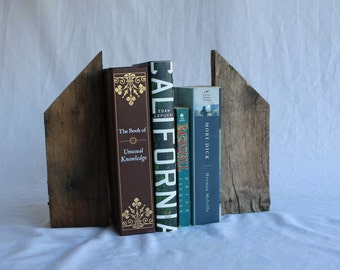 Book ends - reclaimed wood hardwood bookends