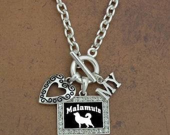 Heart My Malamute Necklace