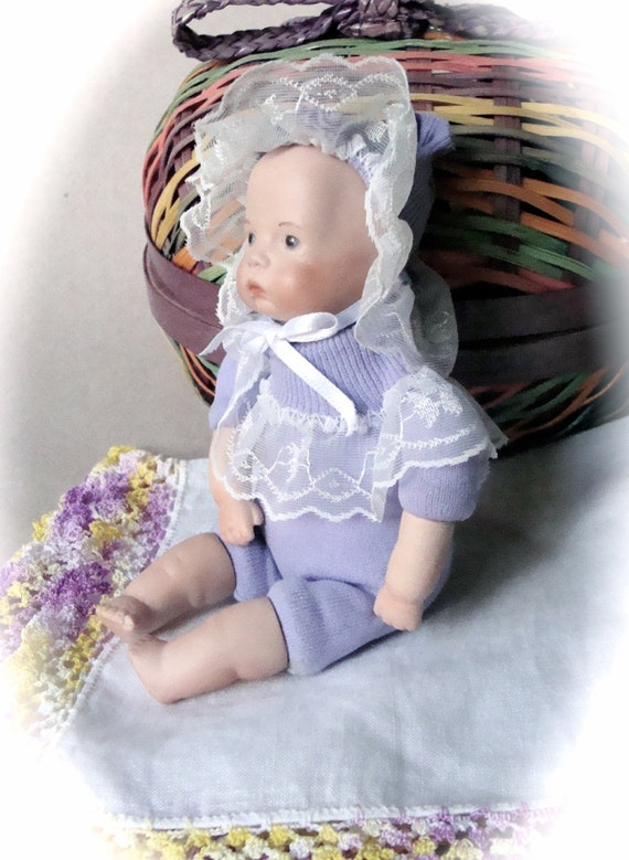 Mini Baby Socks Doll China Head Arms LegsHandmadefromRuffled