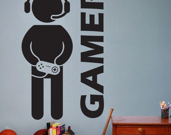 Video Game Gaming Gamer Wall Decal Art Decor Sticker VInyl gamer decal  video game wall art gaming decor gaming decal video gamer decor