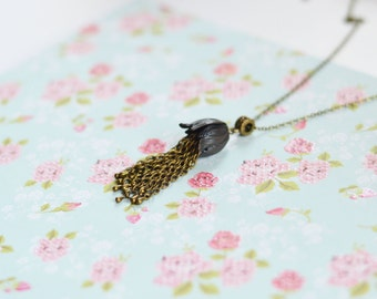 Drops of dew // Pendant in Vintage style metal brass // Fresh, Nature // Best Trends 2015