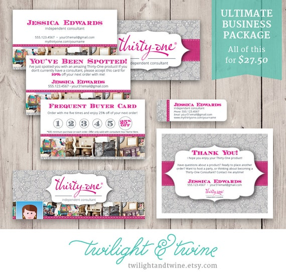 Twilightandtwine thirty one ultimate business bundle for Thirty one business cards vistaprint