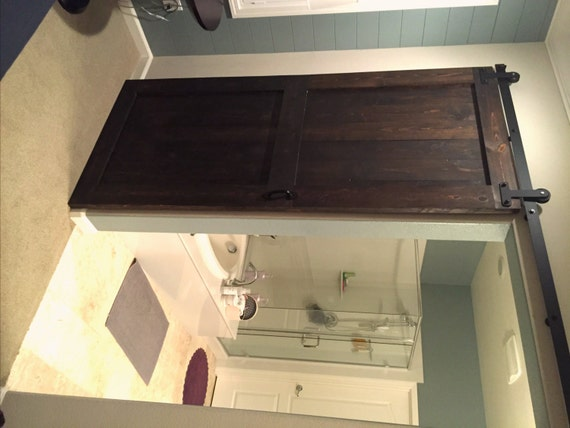 Items Similar To Sliding Barn Door Espresso Stain On Etsy
