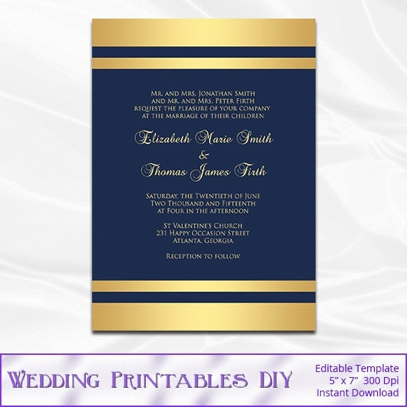 Blue and gold invitations templates blue and gold program template blue and gold invitation cub stopboris Choice Image