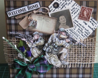 "HandCrafted "" Welcome Home"" Card"