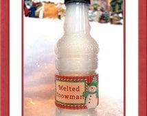Melted Snowman bottle wrapper Christmas bottle label