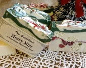 Merry Mint Holiday Gift Soap, Christmas Soap, Peppermint Scented Soap