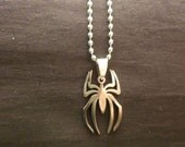 Stainless Steel Replica Spider-Man Pendant With 20 Inch Stainless Steel Chain Necklace Marvel Comic Books Peter Parker Jewelry Free Shipping