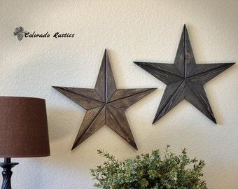 rustic star wood wall art texas star dcor country star reclaimed wood - Star Wall Decor