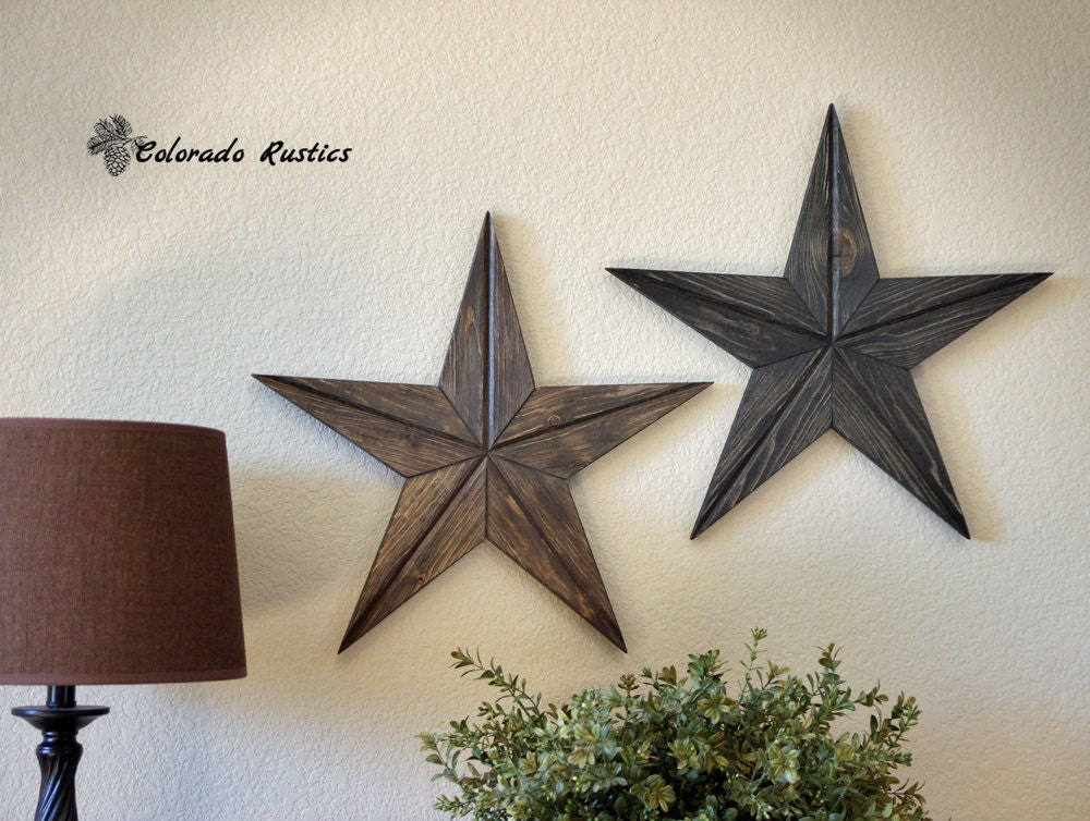 Rustic star home decor rustic star wood wall art texas for Country star decorations home