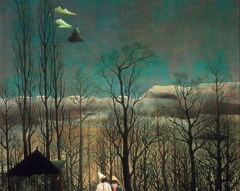 Carnival Evening by Henri Rousseau, in various sizes, Giclee Canvas Print