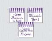 Purple Chevron Printable ...