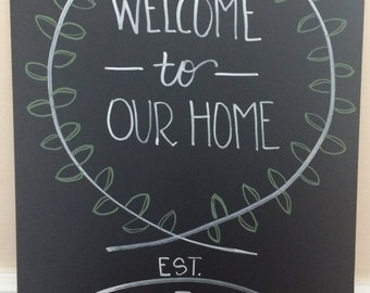 Welcome to Our Home Chalkboard