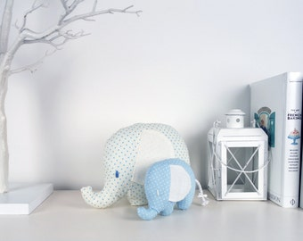 Handmade stuffed baby elephant
