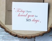 Today I have loved you for, Wedding Card, Valentines Day Card, Anniversary Card, Love Card, Bride and Groom Card,