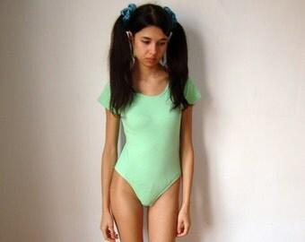 PASTEL GREEN BODY -lingerie, underwear, sexy, green, sailormoon, cyber, ballet, dance, ballerina, cute, aesthetics, maillot, gymnastics-