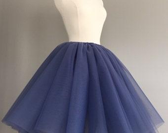 Tulle skirt - amethyst tutu- Adult Bachelorette Tutu- violet tulle skirt-any color- any length