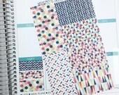 W09 // Red Geometric 'Washi' (38 Matte Planner Stickers)