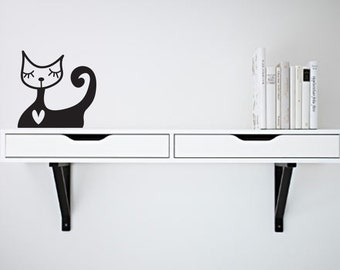 Wall Decal Cat Lady- Vinyl Door Decal- Home Decor- Wall Art