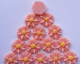 Resin Vintage Sunflower Cabochons