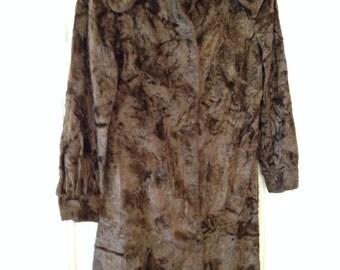 Vintage 70's Faux Fur Dress