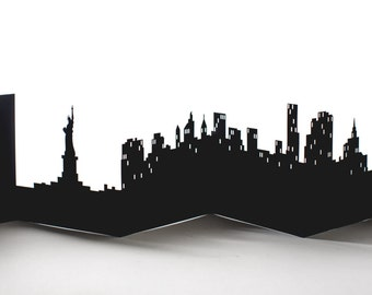 New York Cityscape, Silhouette, Skyline Card