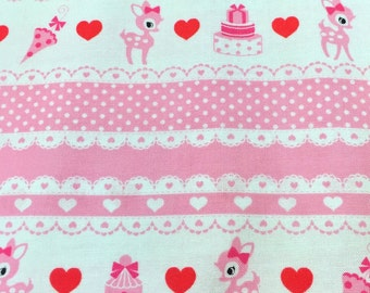 "Oh Deer OFF WHITE 100% Cotton ~ 42"" Wide ~ Sold by the Yard"