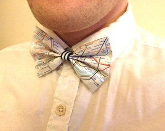 London Tube Map Bow Tie, Unusual Gift for Men
